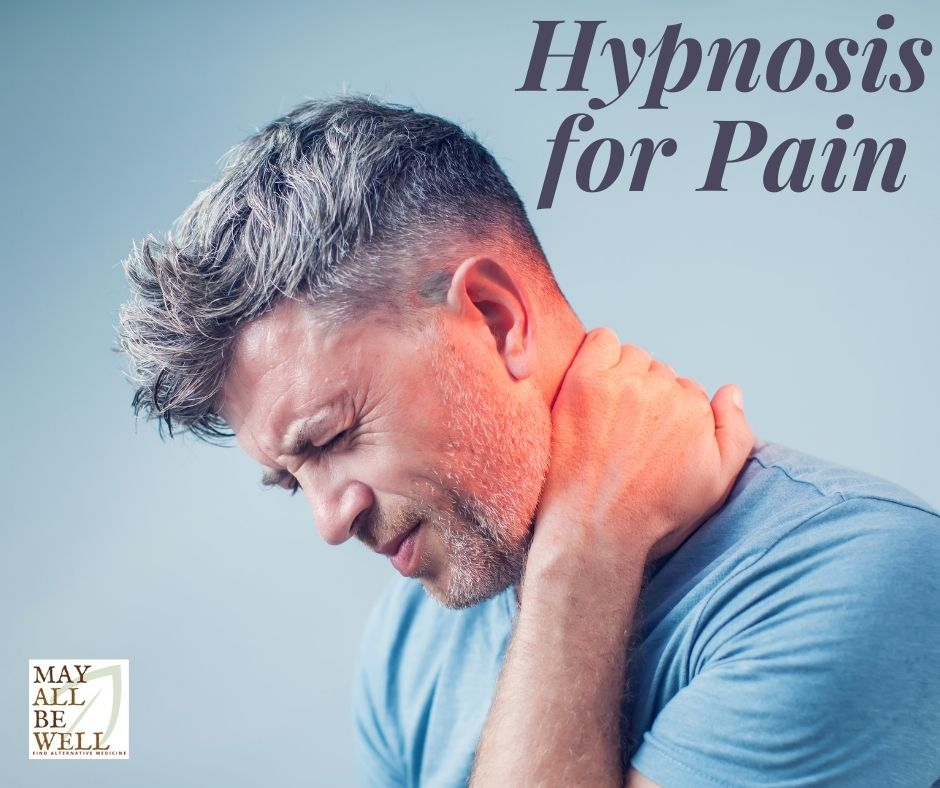 Man holds neck in pain
